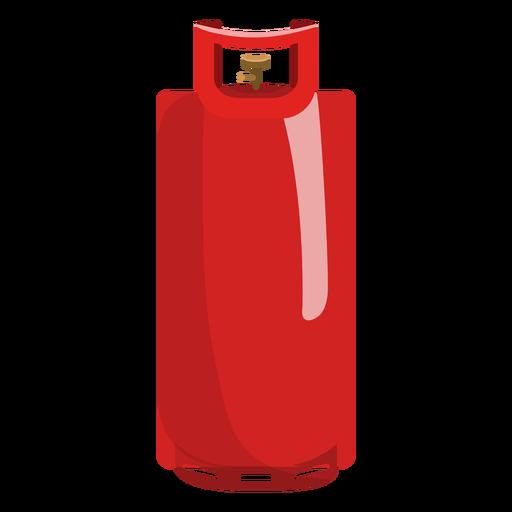 Ilustración de cilindro de gas rojo Transparent PNG