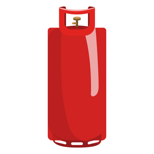 Red gas cylinder illustration Transparent PNG