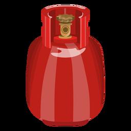 Ilustração realista tanque de gás vermelho