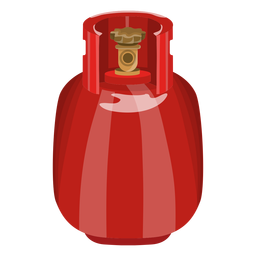 Realistic Red Gas Tank Illustration