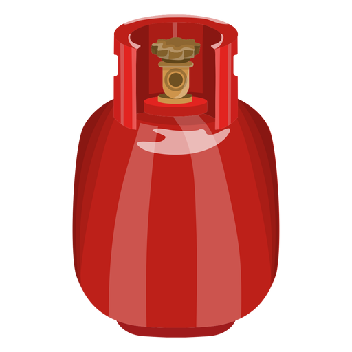 Ilustração realista tanque de gás vermelho Transparent PNG