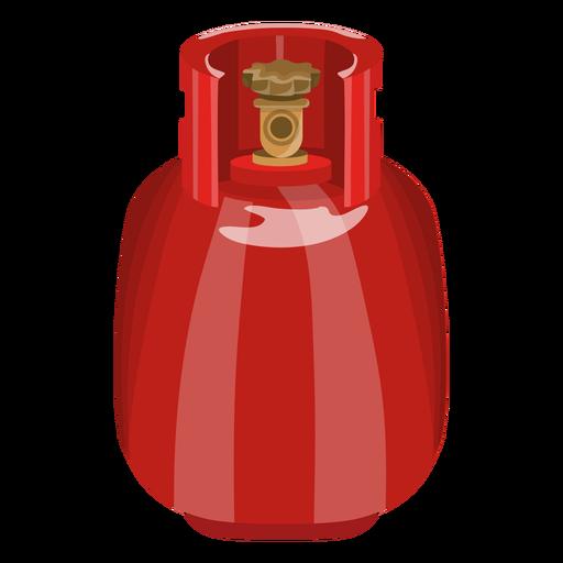 Ilustración realista del tanque de gas rojo