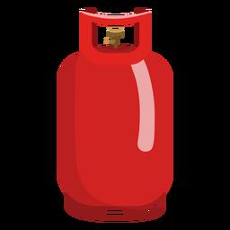 Ilustración del tanque de gas propano rojo