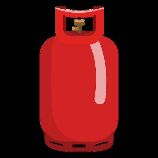 Ilustração vermelha do tanque de gás do propano Transparent PNG
