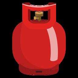 Ilustración de cilindro de gas pequeño