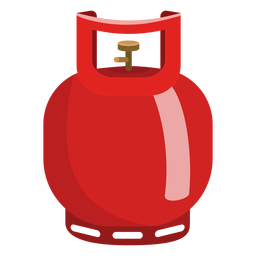 Small gas cylinder illustration