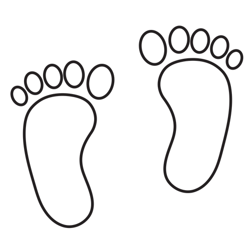 Two feet footprint outline Transparent PNG