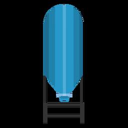 Ilustração de armazenamento de tanque de água