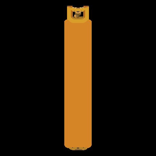 Ilustración de botella de gas amarillo Transparent PNG