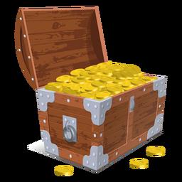 Ilustración de cofre del tesoro abierto