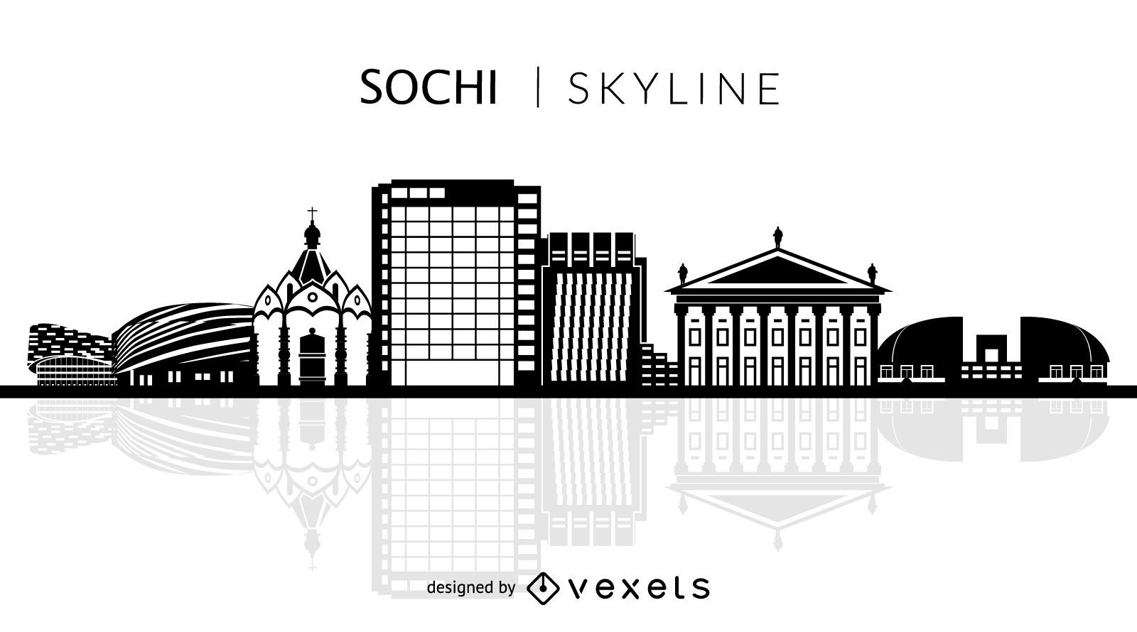 Sochi silhouette skyline