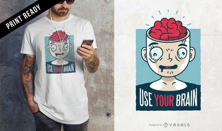 Use seu design de t-shirt do cérebro