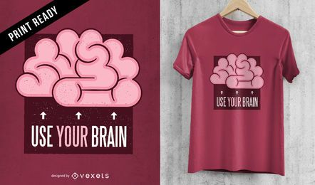 Brain t-shirt design