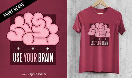 Projeto do t-shirt do cérebro