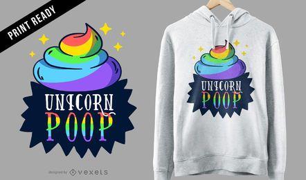 Diseño de camiseta de caca de unicornio