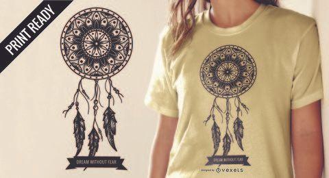 Design de camiseta do apanhador de sonhos