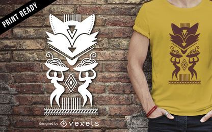 Diseño de camiseta tribal