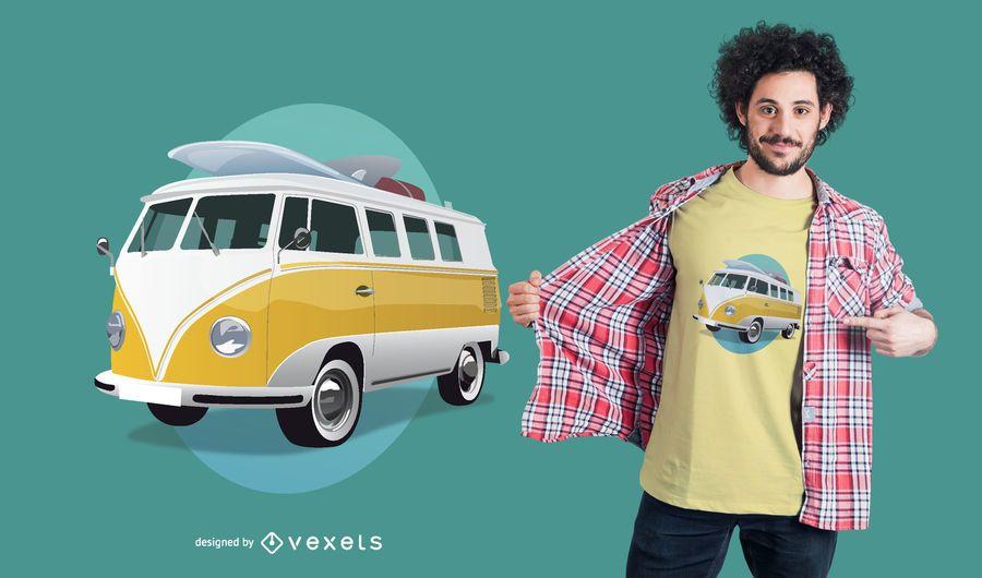 Design de t-shirt de autocarro Volkswagen