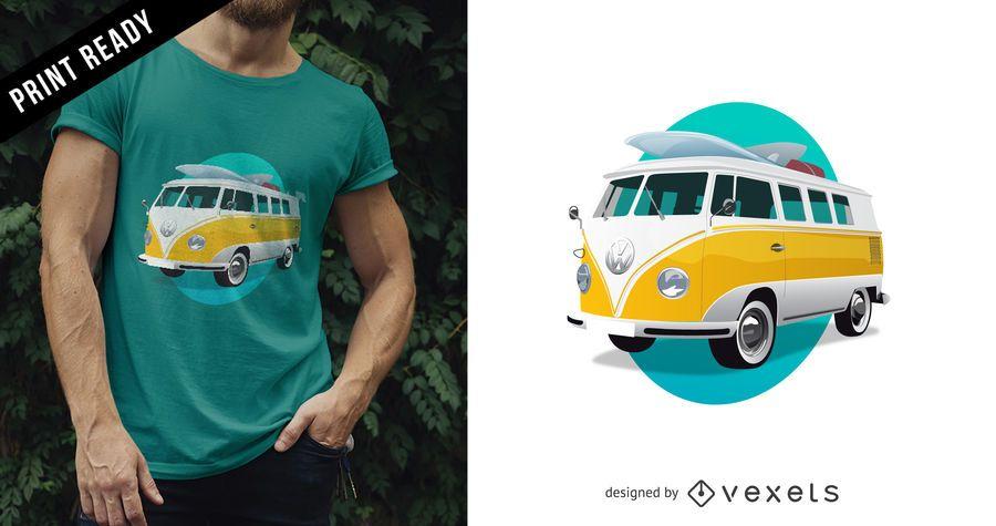 Diseño de camiseta de autobús Volkswagen