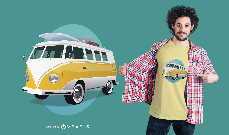 Design de camiseta de ônibus Volkswagen