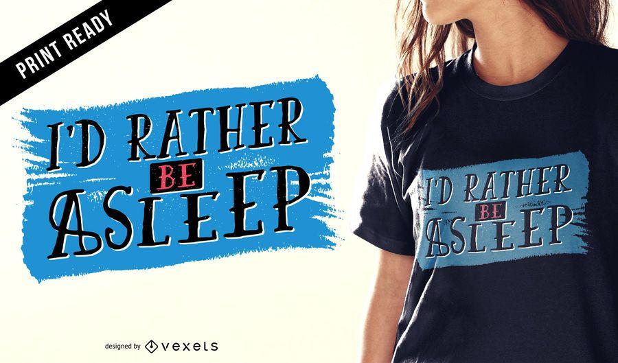 Sleeping t-shirt design