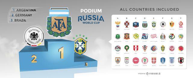 Selecciones nacionales de la copa mundial de fútbol