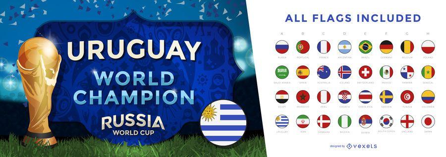 Banner de campeón de la copa del mundo