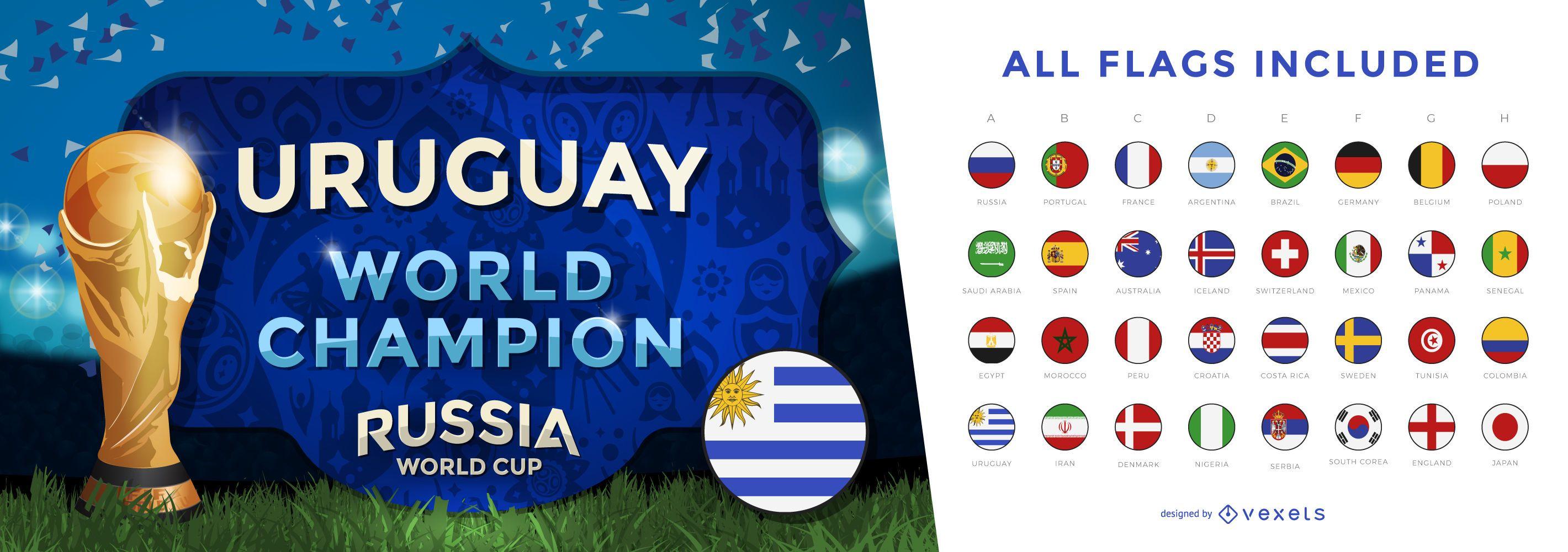 World cup champion banner