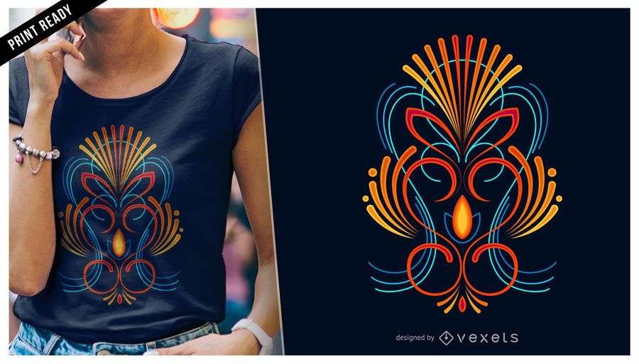 Colorful pinstripes t-shirt design