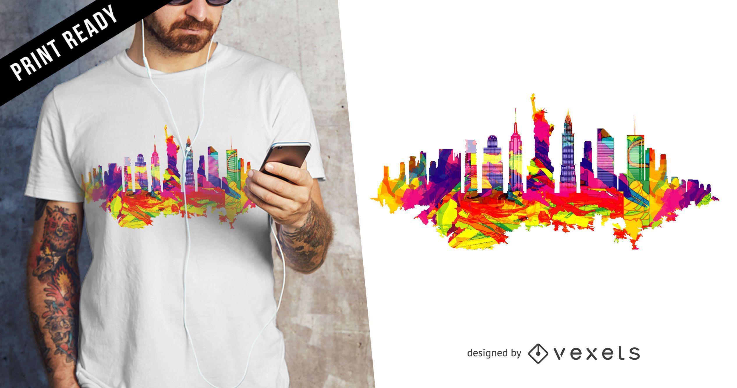 New York skyline t-shirt design