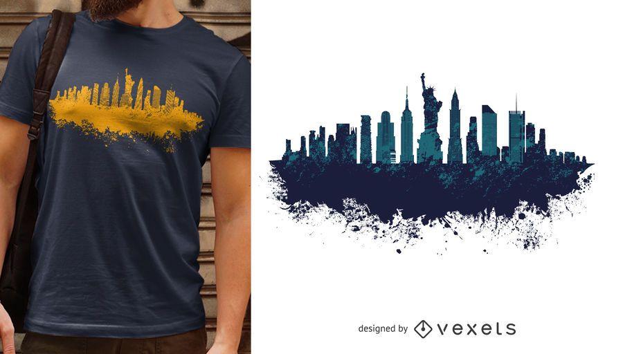 Diseño de camiseta de nueva york