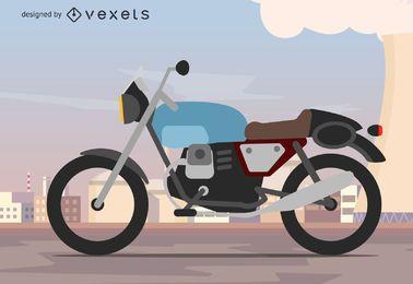 Fundo da motocicleta