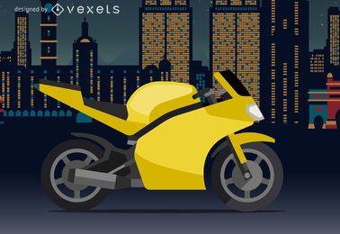 Ilustração de moto esportiva