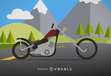 Rocker motorcycle illustration
