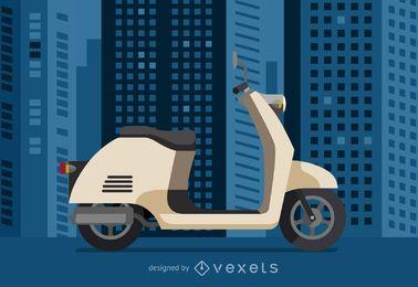Ilustración de vehículo de scooter