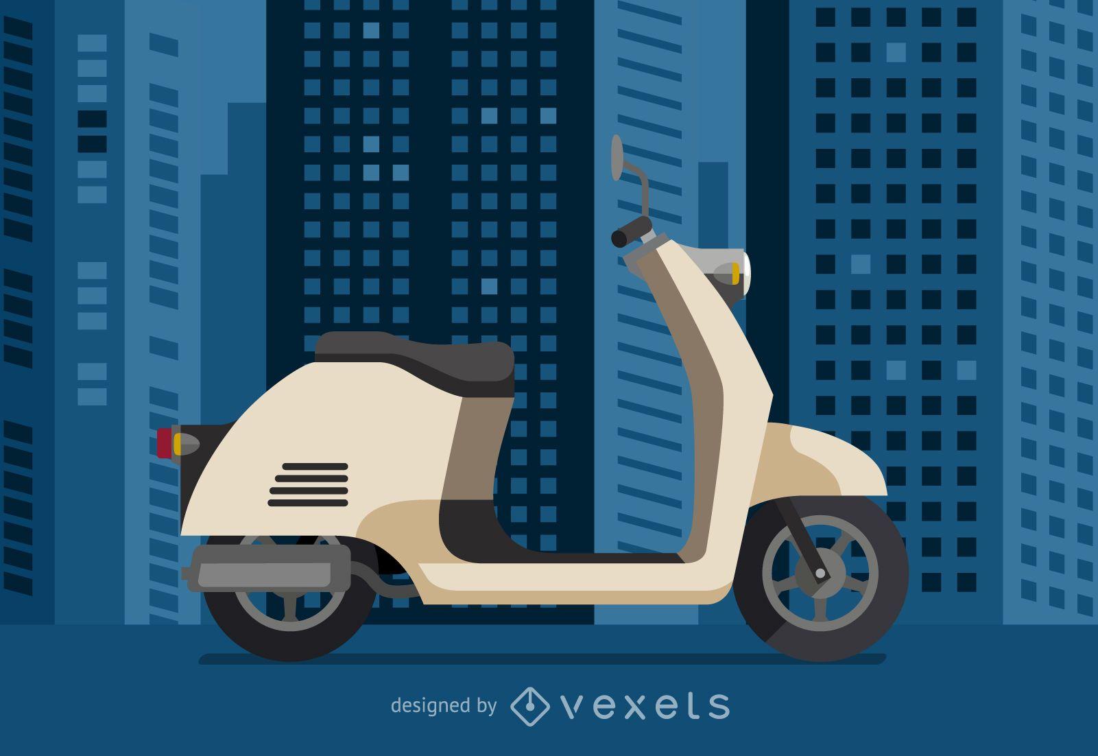 Ilustración de vehículo scooter