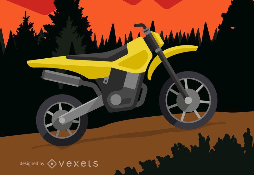 Ilustración de moto off-road