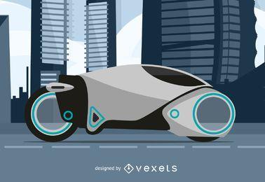 Ilustração futura da motocicleta
