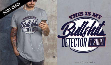 Detector de mierda de camiseta de diseño.