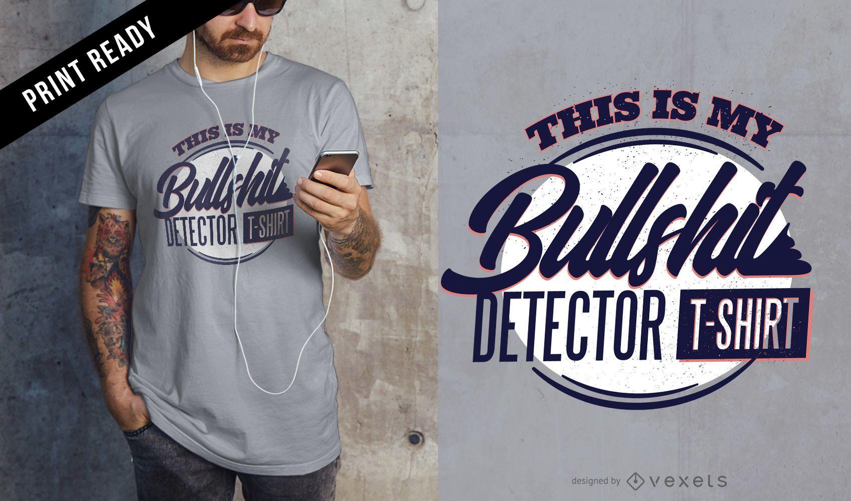 Diseño de camiseta de detector de mierda
