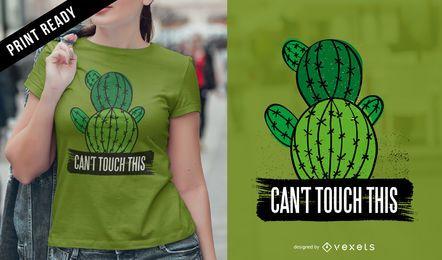 Não pode tocar em design de t-shirt