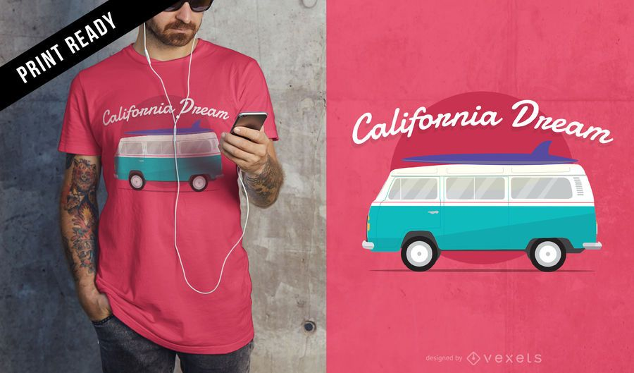California dream t-shirt design