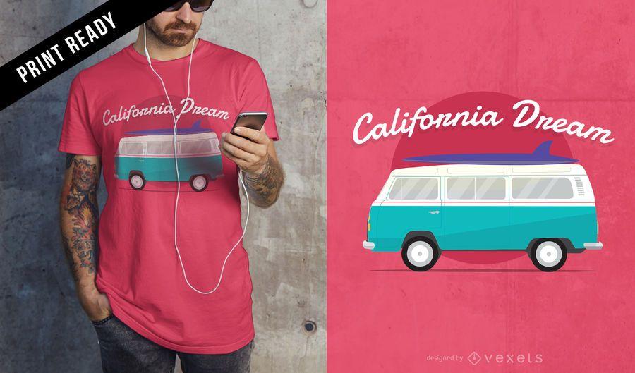 Design de t-shirt de sonho da Califórnia