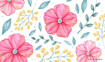 Patrón de flor y flor