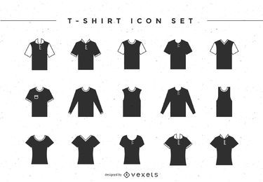 Conjunto de ícones de t-shirt