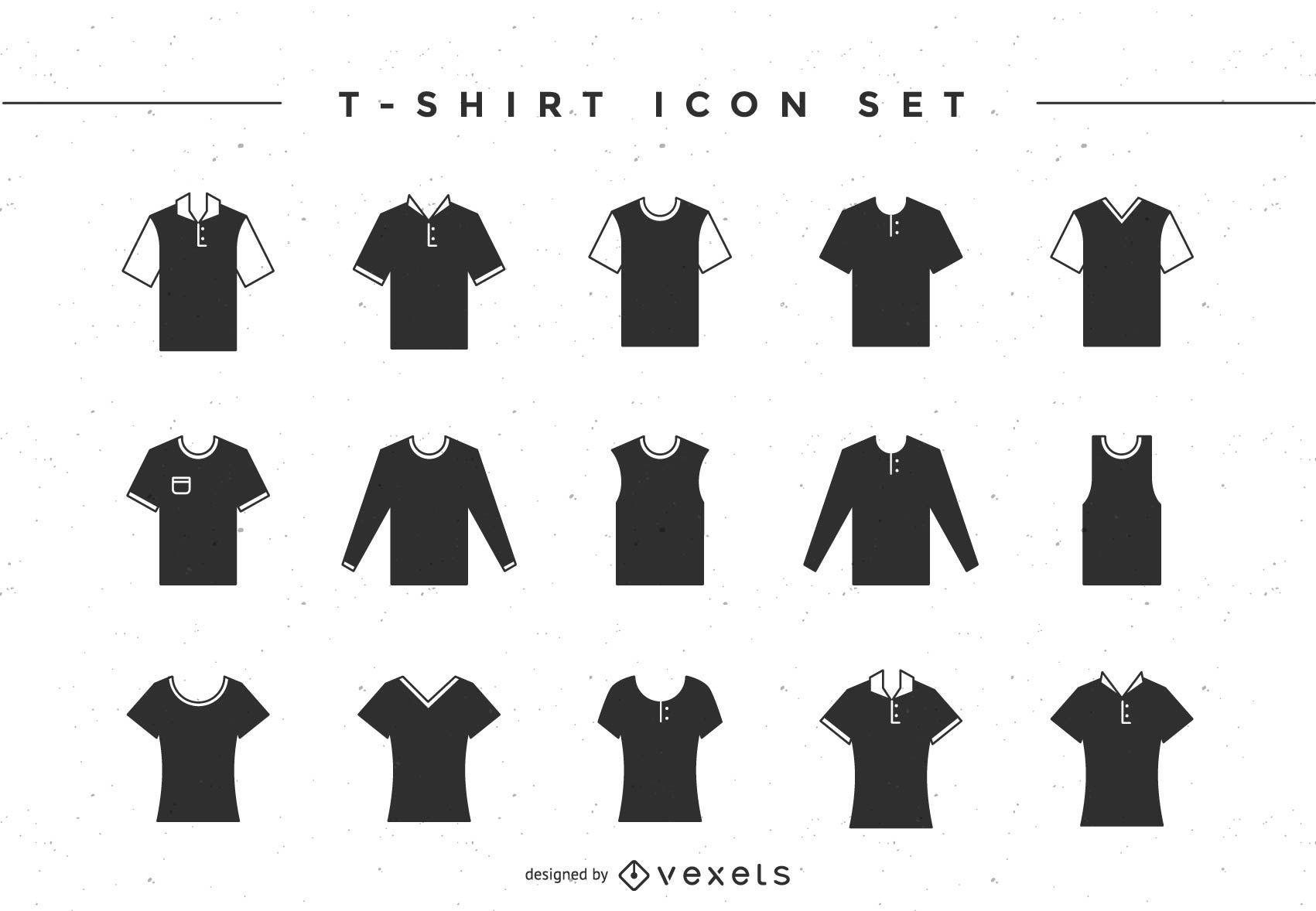 Conjunto de ícones de camiseta