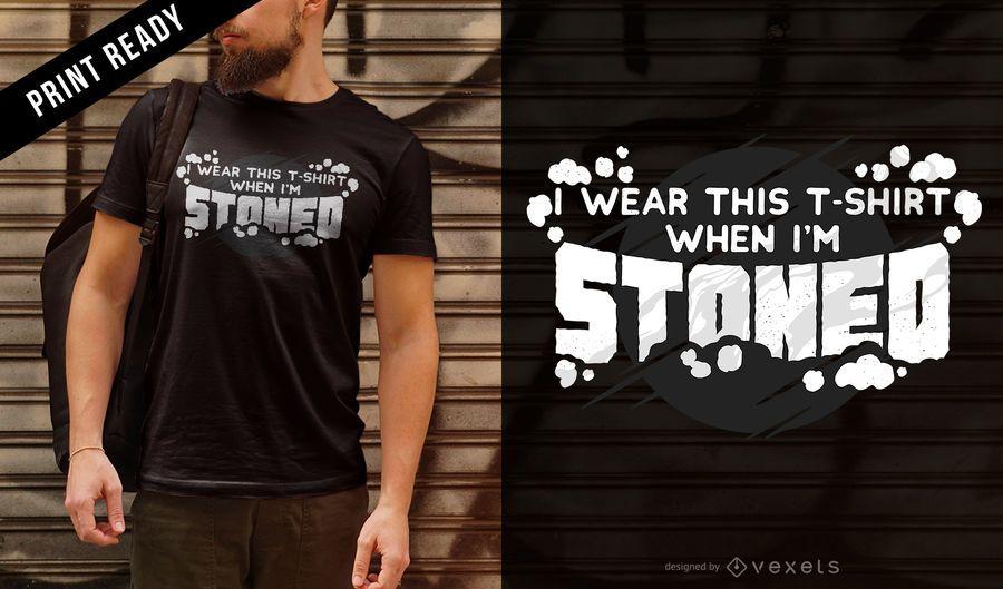 Diseño de la camiseta de piedra
