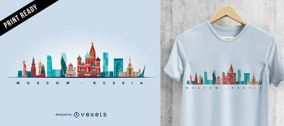 Design de t-shirt do horizonte de Moscou