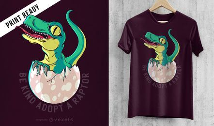 Diseño de camiseta Raptor