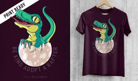 Diseño de camiseta de raptor.